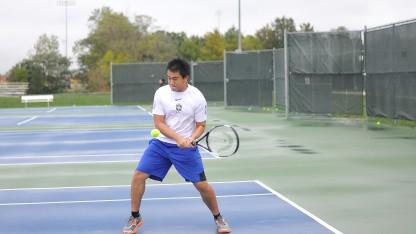 Cú trái tay đẹp mắt của tay vợt Nhiên June