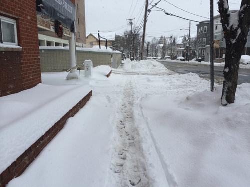 Ở vùng Đông Bắc nước Mỹ (cách không xa biên giới Canada), trong  mùa Đông, nhiệt độ thường xuyên xuống -5, -7 độ C, có những đợt lạnh sâu có thể xuống -20 độ C. Sau 1 đêm bão tuyết, toàn bộ đường phố thay đổi, vỉa hè ngập một màu trắng xóa.