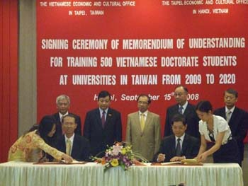 60 học bổng thạc sĩ, tiến sĩ tại Đài Loan