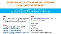 Ngày 18.4 (giờ Việt Nam), SinhvienUSA và US Alumni sẽ tổ chức một cuộc hội thảo cùng US Consulate với chủ đề: Chia sẻ kinh nghiệm về văn hóa và...