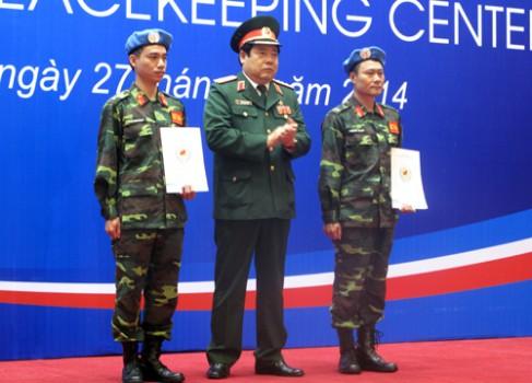 Trung tâm gìn giữ hòa bình Việt Nam được thành lập
