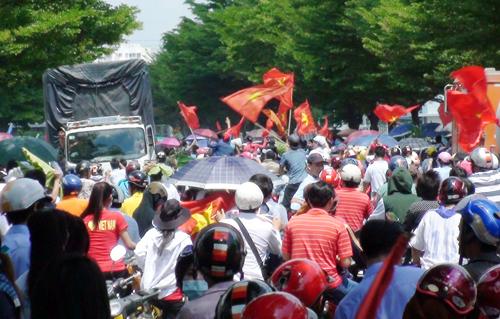 Nhiều kẻ kích động công nhân trong cuộc biểu tình phản đối Trung Quốc