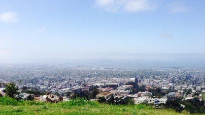 Góc nhìn từ trên Laurence National Lab xuống vịnh San Francisco