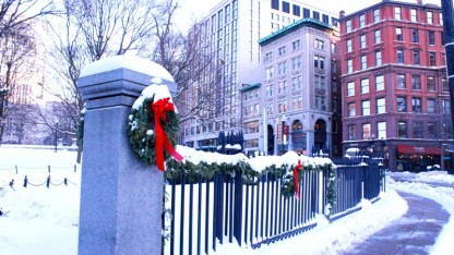 Boston Common- sự ấm áp trong khí trời lạnh lẽo
