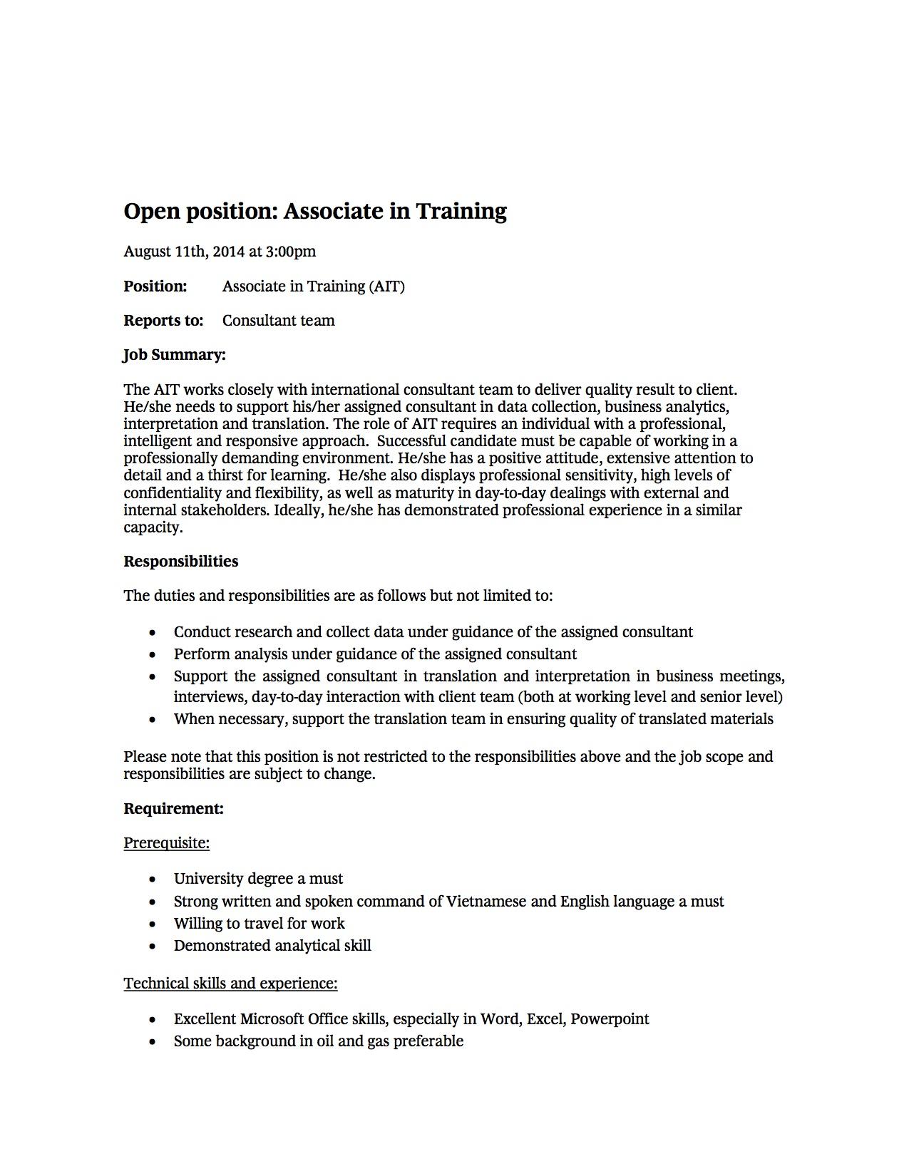 BCG - Associate in Training -11Aug2014