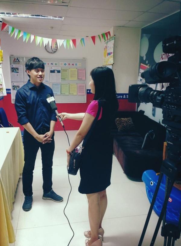 Cậu từng được Đài truyền hình VTV thực hiện phỏng vấn.