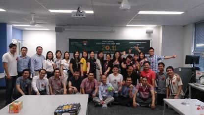Kỷ niệm ngày Nhà giáo Việt Nam 20/11/2014 cho Hội nghiên cứu sinh Việt Nam tại Wollongong ( Ảnh do nhân vật cung cấp)