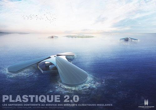 Đảo trôi Plastique 2.0. Ảnh: Grey-Rose.