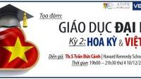 """CLB Học Thuật Lan tỏa sẽ tổ chức chương trình""""Đối thoại Giáo dục Đại học Hoa Kỳ & Việt Nam""""vào19:00 – 21:30, ngày 10/12/2014 (thứ 4) tại TP Hồ Chí..."""
