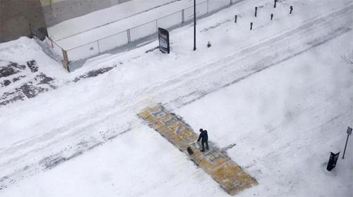 Không dọn tuyết, Ngoại trưởng Mỹ bị phạt 50 USD