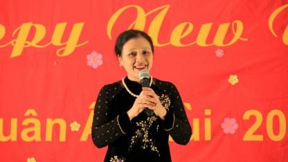 Đại Sứ Nguyễn Phương Nga phát biểu tại Tết Tình Yêu