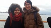 """Nguyễn Thùy Trang, Nguyễn Hoàng Phong hai du học sinh Mỹ đã vừa cho ra đời dự án """" Kinh tế không kinh thế - KTKKT"""" trên trang Youtube và Facebook nhằm mang đến cho những ai mong muốn tìm hiểu về kinh tế có một góc tiếp cận hoàn toàn mới."""