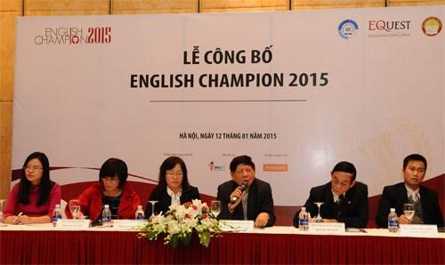 Anh ngữ Việt Mỹ VATC đăng cai tổ chức English Champion 2015 khu vực miền Nam