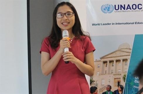 Nữ sinh Việt xuất sắc lọt top 75 nhà lãnh đạo trẻ thế giới