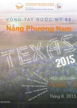 Thông báo: Tổ chức Vòng tay nước – Mỹ Texas tháng 8/2015