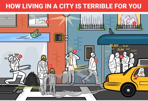 8 lý do tại sao sống tại thành phố gây cho bạn nhiều phiền toái