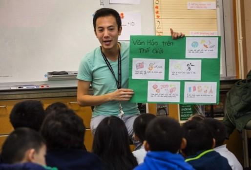 Nhiều trường Mỹ dạy học bằng tiếng Việt