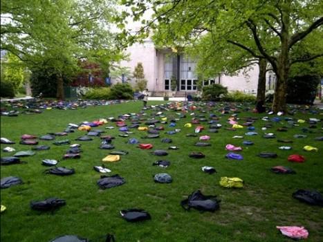 Mỹ: Trưng bày 1.100 chiếc cặp để cảnh báo tự tử tại trường học