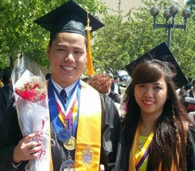 Vợ chồng cùng giành học bổng đại học danh giá tại Mỹ