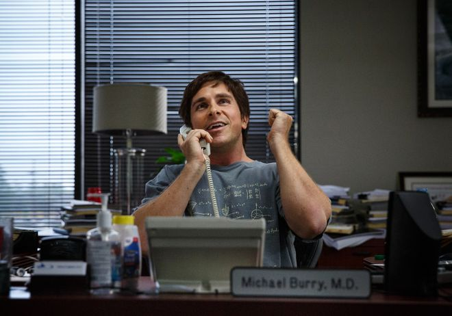 """In this image released by Paramount Pictures, Christian Bale appears in a scene from """"The Big Short."""" The movie opens in U.S. theaters on Dec. 23, 2015. (Jaap Buitendijk/Paramount Pictures via AP) ORG XMIT: CAET540"""