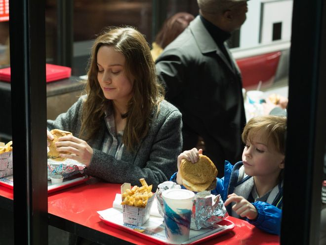 """In this image released by A24 Films, Brie Larson, left, and Jacob Tremblay appear in a scene from the film, """"Room."""" The movie opened in U.S. theaters on Oct. 16, 2015. Nominations for the 22nd annual Screen Actors Guild Awards in six film and eight television categories will be announced on Wednesday morning, Dec. 9, 2015, in Los Angeles.  (A24 Films via AP)  ORG XMIT: CAET351"""