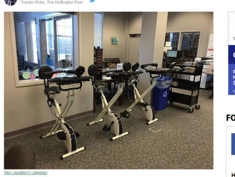Đại học Mỹ trang bị máy tập thể dục cho sinh viên