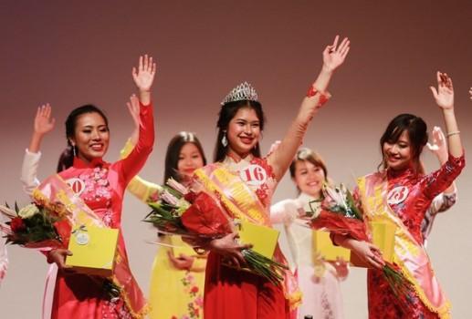 Cô gái Đà Nẵng đăng quang Hoa khôi DHS Việt tại Pháp 2016