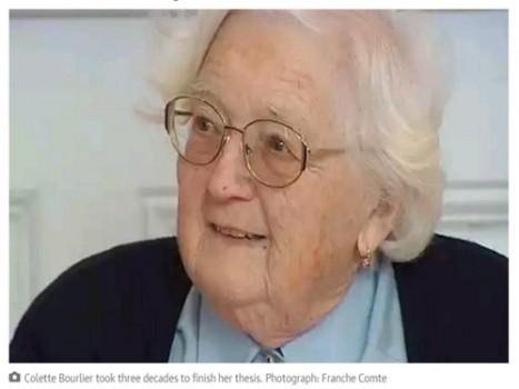 Lấy bằng tiến sĩ ở tuổi 91