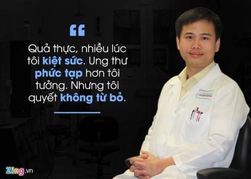 Chàng tiến sĩ Việt quyết đánh bại bệnh ung thư