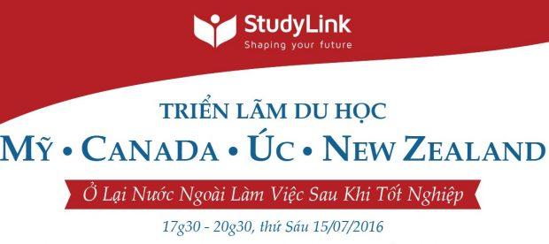 StudyLink: Triển lãm Du học Mỹ – Canada – Úc – New Zealand