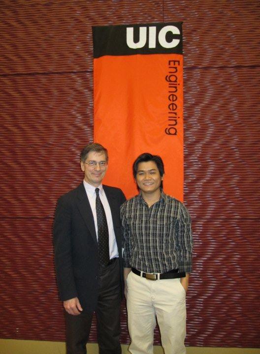 Tommy Dang cùng với thầy hướng dẫn (PhD advisor) vào năm 2010.