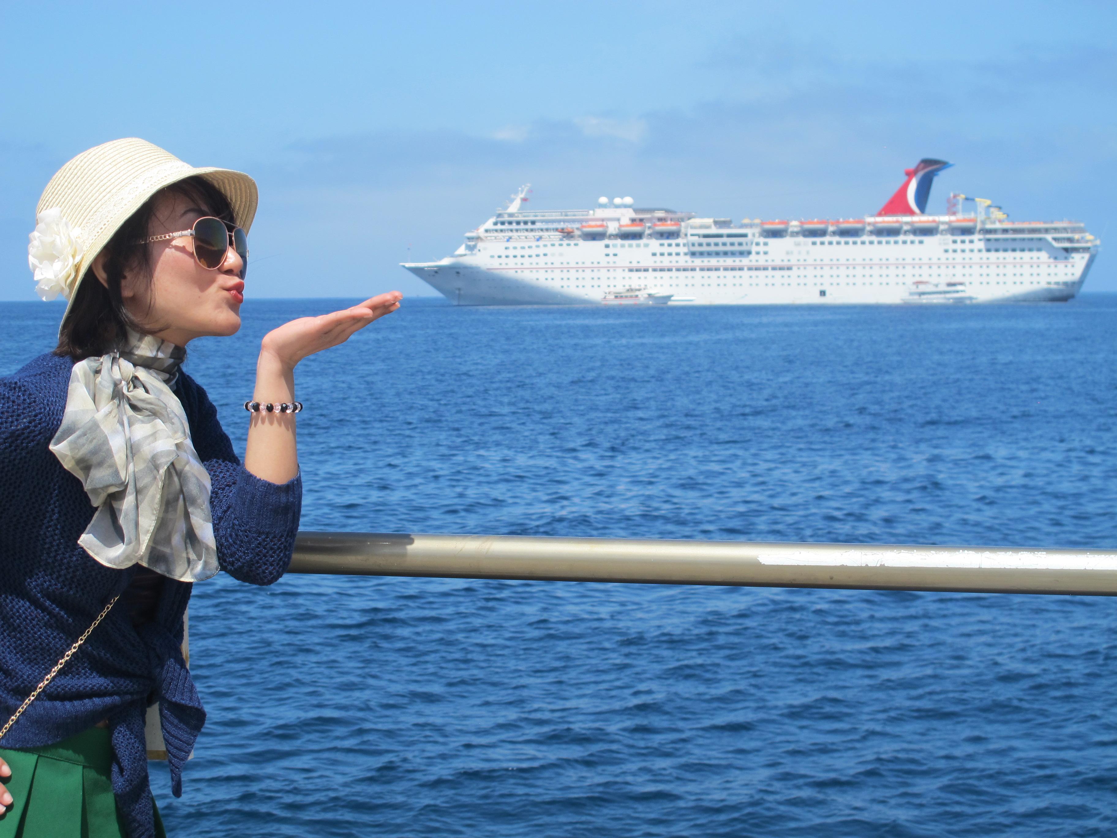 Linh chụp tại Catalina Island