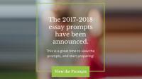 [Thông báo quan trọng] những thay đổi/điều chỉnh chủ đề bài luận trong Common Apps trước mùa tuyển sinh Đại học Mỹ 2017-2018. Common Application là một tổ chức phi...