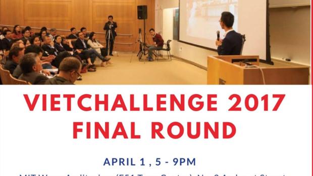 Đêm Chung kết VietChallenge 2017 – Cuộc thi Khởi Nghiệp Toàn Cầu Đầu Tiên cho người Việt – sẽ diễn ra vào ngày 1/4/2017 tại MIT Wong Auditorium (E51 Tang...