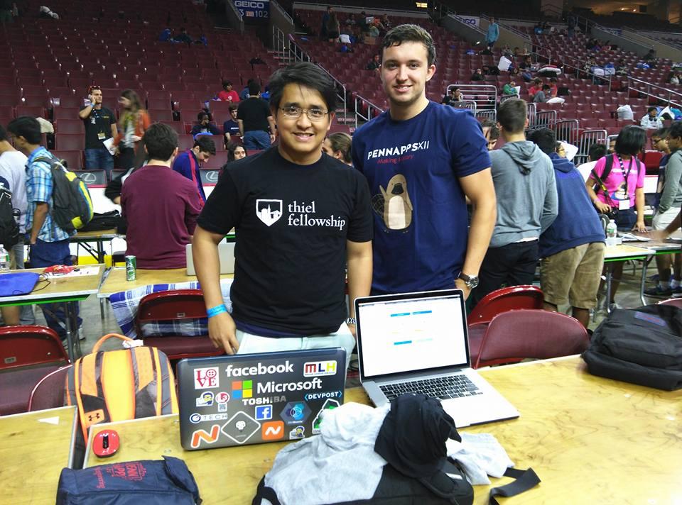 Tuấn  đang tham dự PennApps, hackathon của University of Pennsylvania