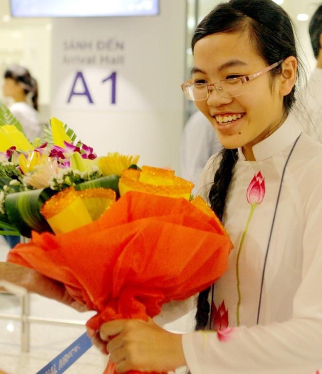 """Đinh Hương Thảo, """"cô gái vàng"""" của Olympic Vật lý Việt Nam. Ảnh: Quyên Quyên."""