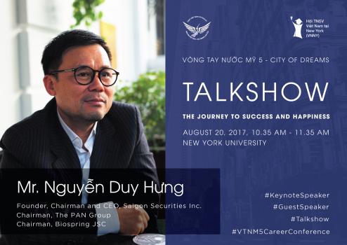 CEO Nguyễn Duy Hưng truyền lửa cho giới trẻ Việt tại Mỹ trước thềm sự kiện.