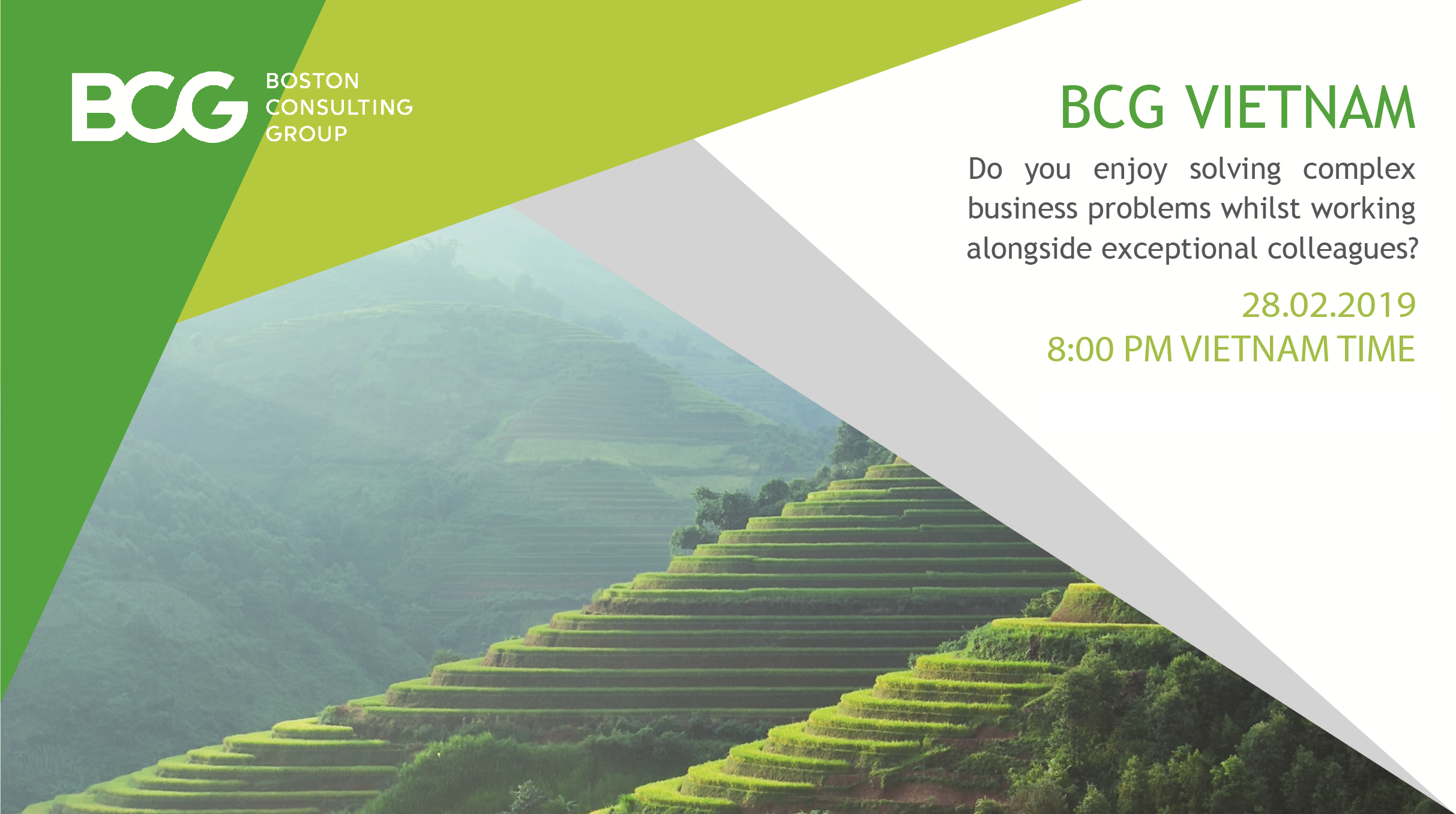 BCG Vietnam Webinar Connection Event. February 28, 2019.
