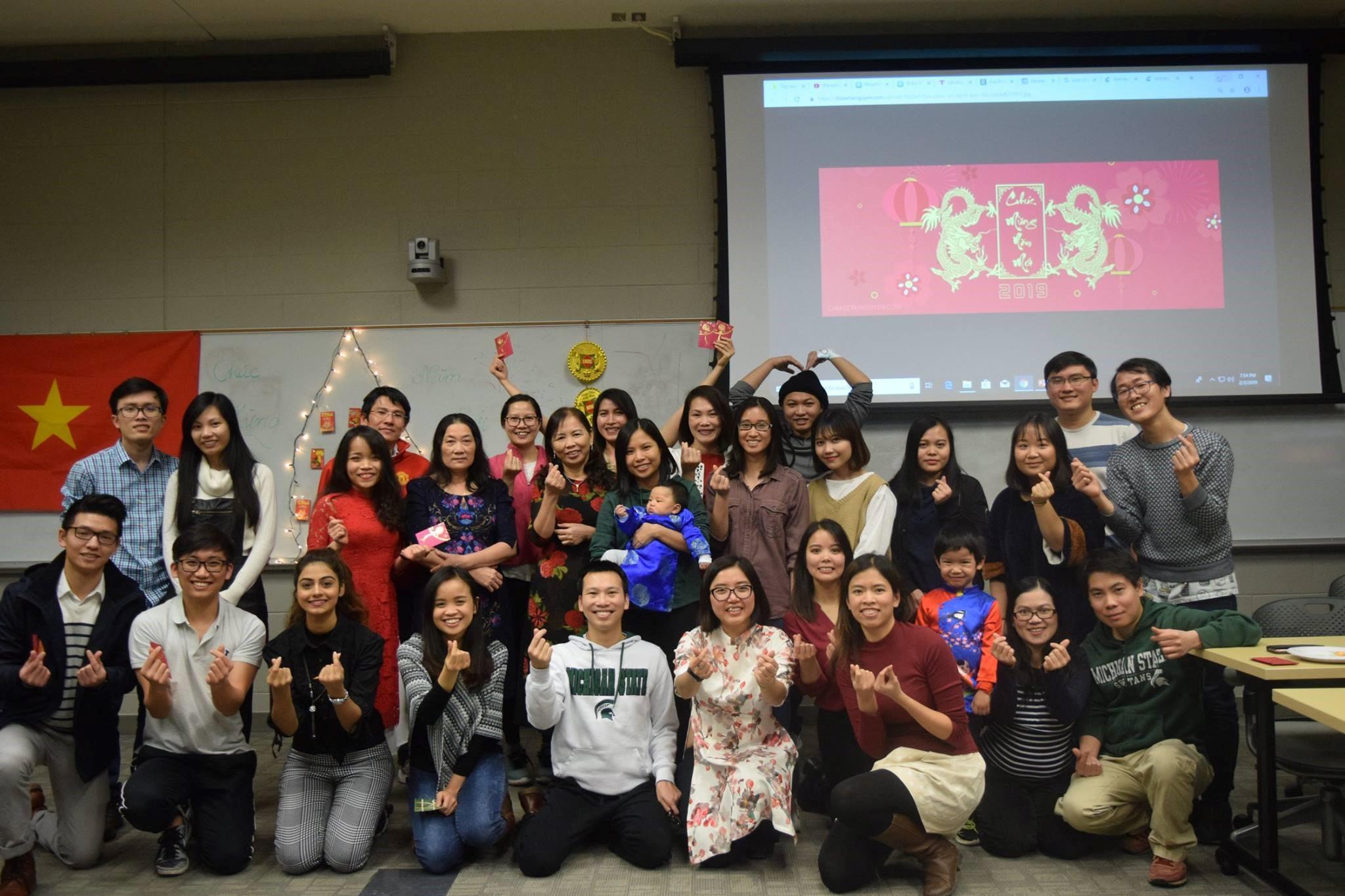 Sinh viên Việt Nam tại Michigan cùng nhau đón Tết