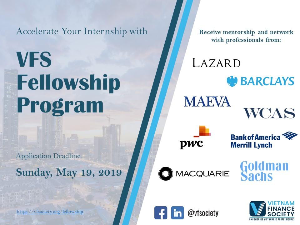 VFS Fellowship Program – Summer 2019