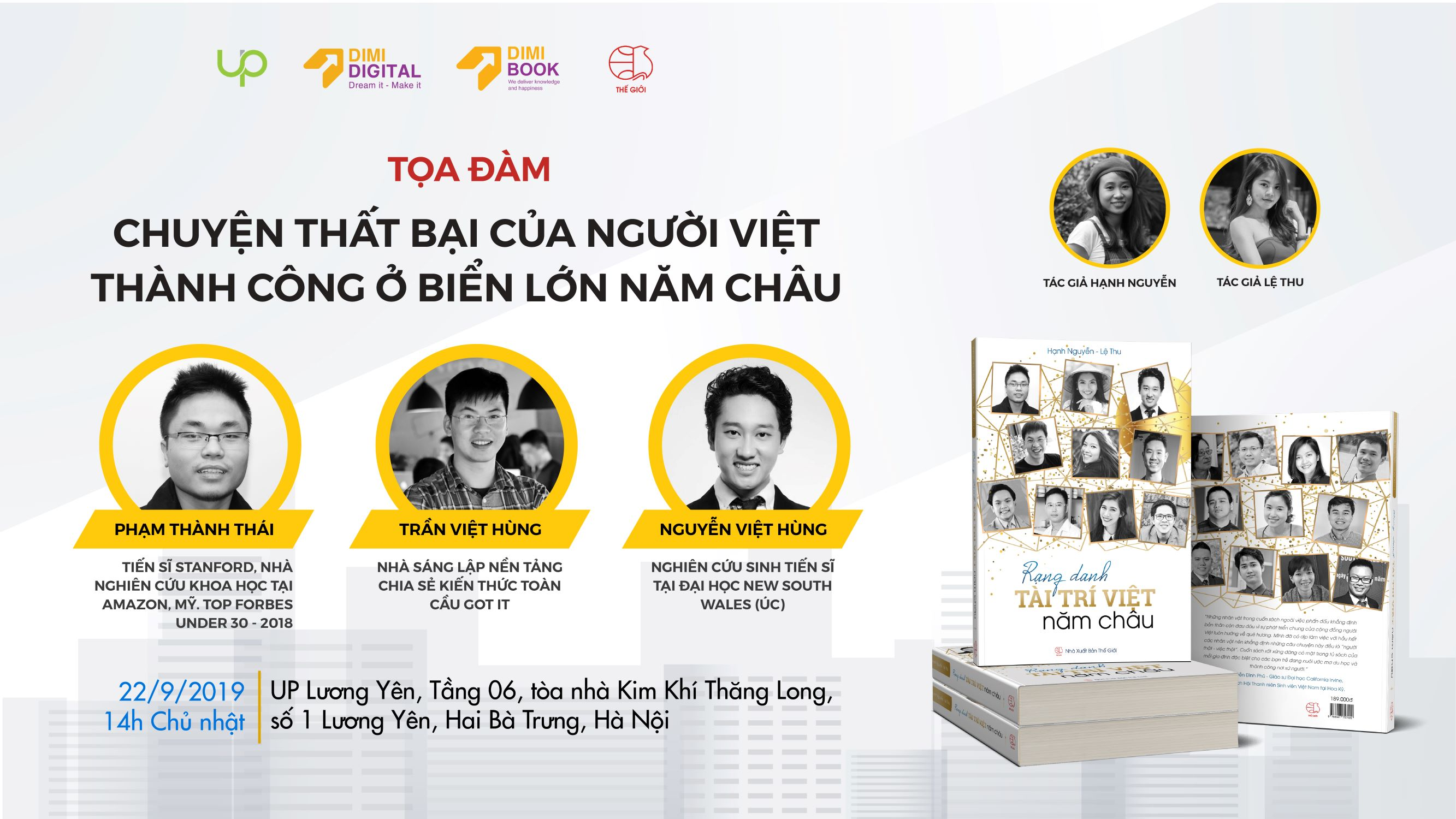 HOT!! Tọa Đàm tại HN: Chuyện Thất Bại Của Người Việt Thành Công Ở Biển Lớn Năm Châu 2019